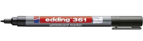 Edding 361 Whiteboard Marker Bullet Tip 1mm Line Black PK10
