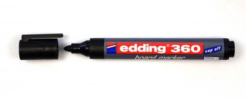 edding 360 Whiteboard Marker Bullet Tip 1.5-3mm Line Black (Pack 10)