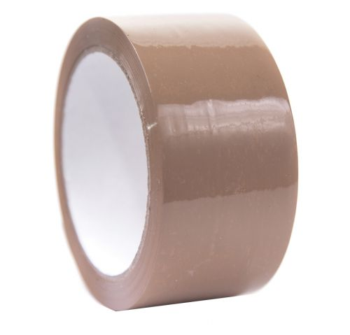 Low Noise Packing Tape 48mm x 66m Brown. Pack of 6