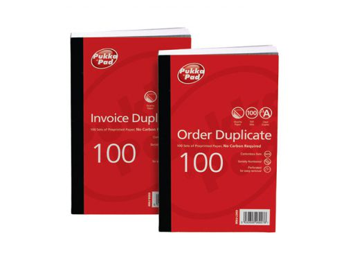 ValueX Duplicate Invoice Book PrePrinted VAT 210x130mm (Pack 5)