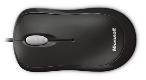Microsoft Basic Optical Mouse for Business Wired PS2 USB 800 DPI 3 Buttons Black Ergonomic Design Comfortable in Either Hand