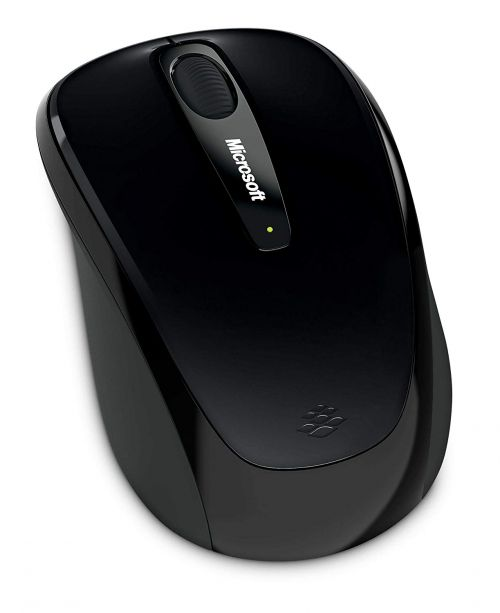 Microsoft 3500 Mobile Mouse Wireless Both Handed Black Both Handed Ref GMF-00042