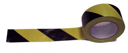 Value Lane Marking Tape 50mmx33m Black/Yellow
