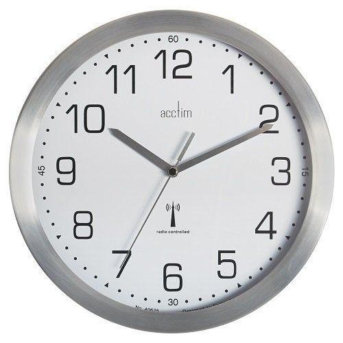 Image for Acctim Mason RC Wall Clock 25cm Aluminium 74337