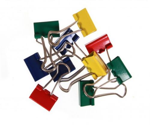 Value Fold Back Clips 19mm Assorted Colour PK50
