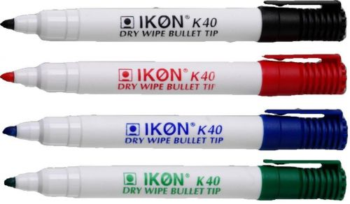 Value Dry Wipe Marker Bullet Tip Assorted (PK4)