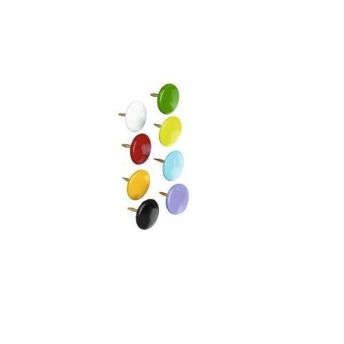Value Drawing Pins 9.5mm Assorted Colours PK100
