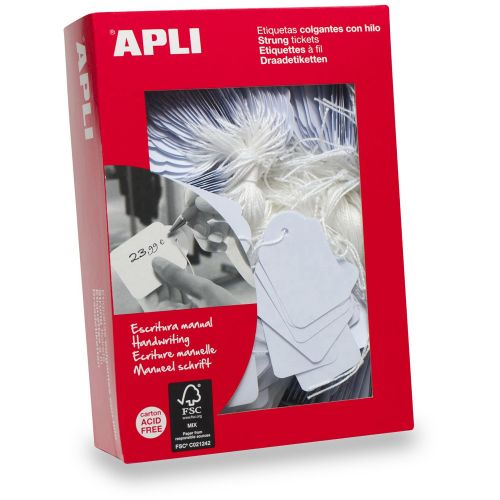 Value Apli Strung Tickets 18x29 White (PK1000)