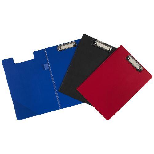 Value PVC Fold Over A4 Clipboard Blue