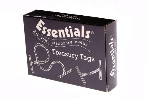 ValueX Treasury Tag Plastic 25mm (Pack 100)