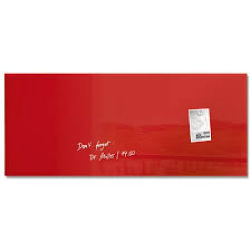 Sigel Artverum Magnetic Glass Board 1300x550mm Red