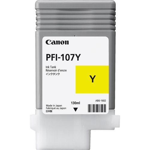 Canon 6708B001 PFI107 Yellow Ink 130ml