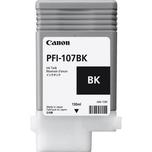 Canon 6705B001AA PFI-107BK Black Ink Caertridge