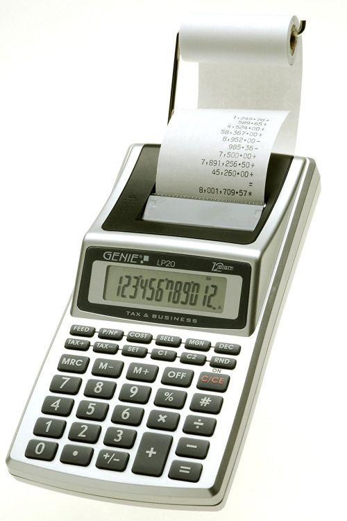 Value Genie LP20 12-digit printing calculator 10644