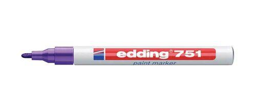 Edding 751 Paint Marker Bullet Tip 1-2mm Line Blue (Pack 10)