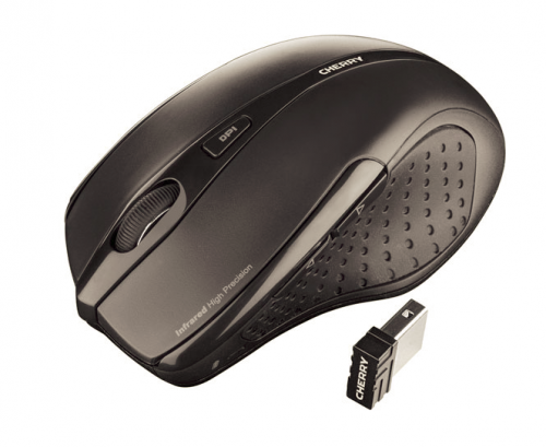 Cherry MW 3000 Five-Button Wireless Mouse 2.4GHz Optical Range 5m Black Ref JW-T0100