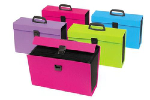 Rexel JOY Expanding Organiser Box File 19 Part A-Z Blissful Blue Foolscap Ref 2104019