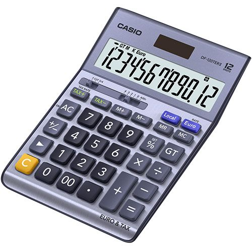 Casio DF-120TERII 12-Digit Desktop Calculator Silver