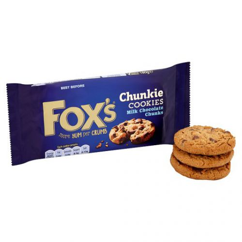 Fox s Biscuits Milk Chocolate Chunk Cookies Extra Deep Cookie Dough Ref A07887