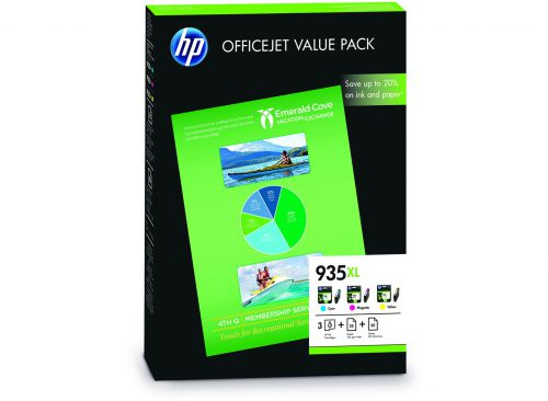 HP F6U78AE 935XL Colour Ink 3x 9.5ml Multipack