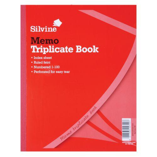 Silvine Triplicate Memo Book 254x203mm PK6