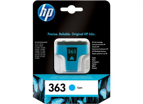 HP C8771E 363 Cyan Ink 4ml