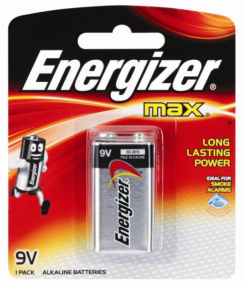 Energizer Max 9V Alkaline Batteries (Pack 1)