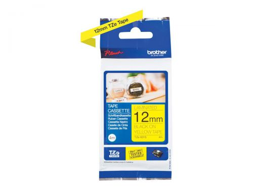 Brother TZE631S Black on Yellow Label Tape 12mmx4m
