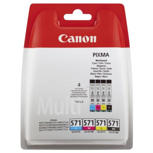 Canon 0386C005 CLI571 CMYK Ink 4x7ml Multipack