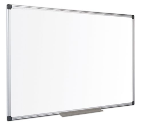 Bi-Office Maya Enamel Aluminium Framed Whiteboard 90x60cm