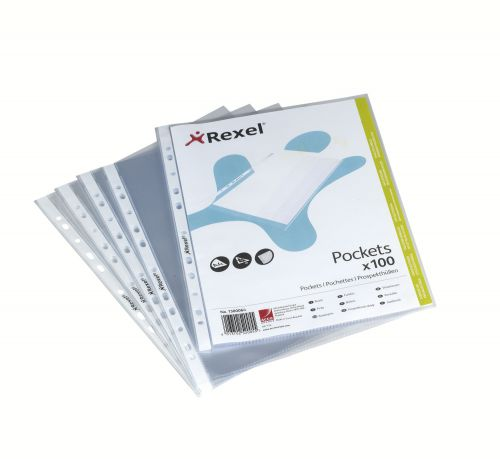 Rexel Pocket A5 PP 75mic Clear PK100
