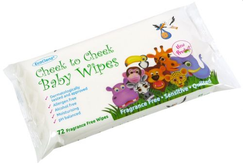 EcoClenz Baby Wipes Fragrance Free 60 Wipes Pack of 12 FPBW60FF