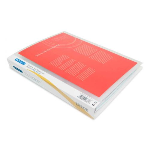 25mm 4-Ring Binder A4 clear PK10