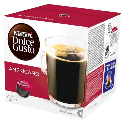 Nescafe Dolce Gusto Cafe Americano 16 Capsules (Pack 3) 12461466