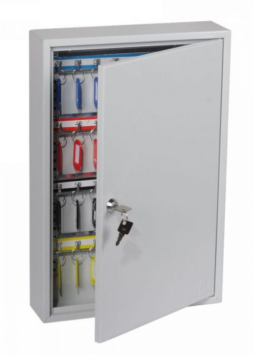 Lockable 64 Hook Key Cabinet