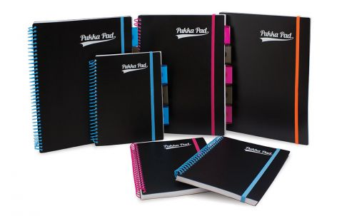 Pukka Neon Project Book A4 Assorted PK3