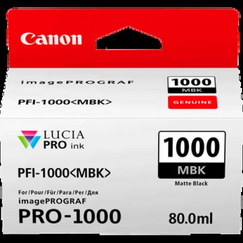 Canon 0545C001 PFI1000 Matte Black Ink 80ml