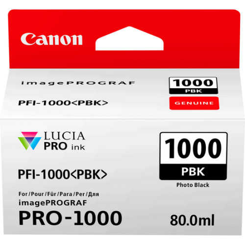 Canon 0546C001 PFI1000 Photo Black Ink 80ml