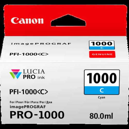 Canon 0547C001 PFI1000 Cyan Ink 80ml