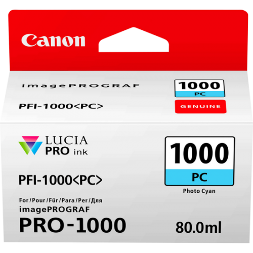 Canon 0550C001 PFI1000 Photo Cyan Ink 80ml