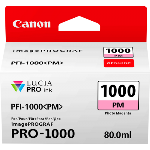 Canon 0551C001 PFI1000 Photo Magenta Ink 80ml