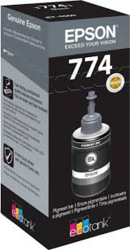 Epson C13T774140 T7741 Black Ink 140ml