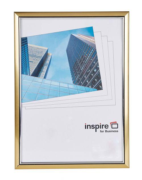 Inspire For Business Certificate A4 Back Loader Gold Frame