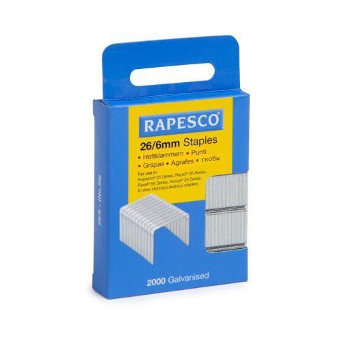 Rapesco 26/6mm Galvanised staples Retail Pack PK2000