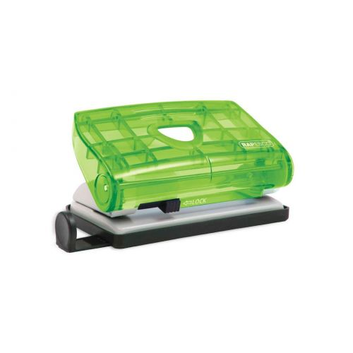 Rapesco 810-P 2-Hole Punch 12 Sheets Assorted Trnsprnt clrs