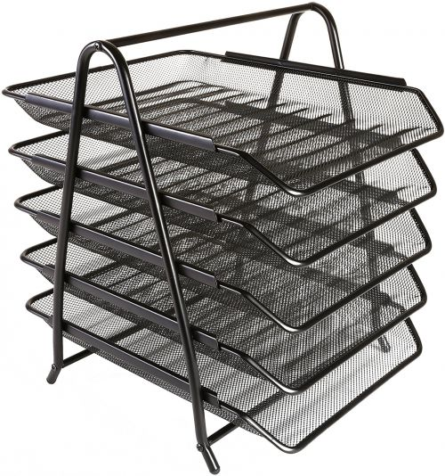 Mesh 5 Tier Tray Black