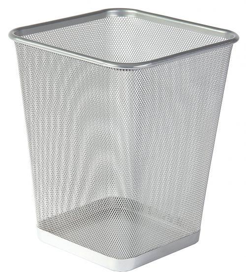 Osco Wiremesh Square Waste Bin Regular 29cm (Silver)