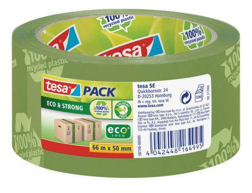 tesa EcoLogo Printed PP Tape 50mmx66m Green 58156 PK6