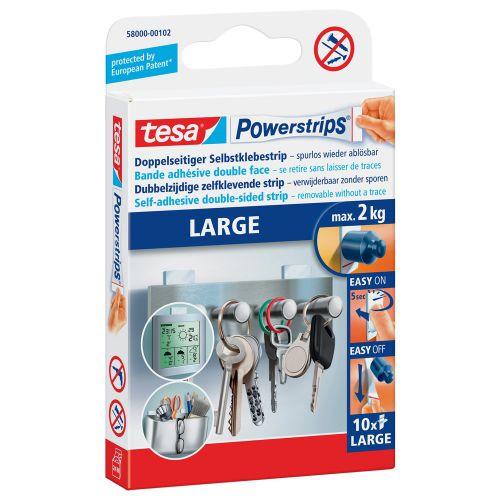 tesa Powerstrips Large Strips 58000 PK10