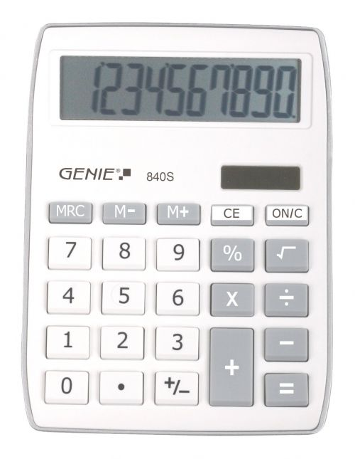 Genie 840S Silver Calculator